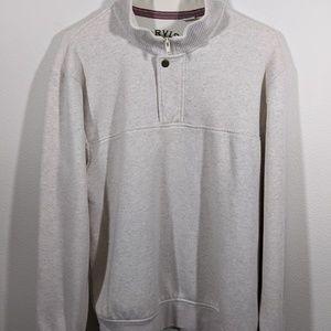 Orvis Mens 1/4 Zip Front Snap Front Sweatshirt L